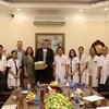 Giáo sư Ander Salumet và các cộng sự trường Đại học Tartu - Estonia thăm và làm việc với Bệnh viện Phụ Sản Hà Nội