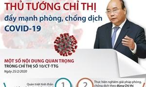 Thủ tướng chỉ thị đẩy mạnh phòng, chống dịch COVID-19 trong tình hình mới