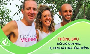 Thông báo đổi giờ khai mạc sự kiện Giải chạy sông Hồng