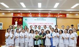 Lớp đào tạo kỹ năng thực hành chăm sóc trẻ sơ sinh đẻ non bằng phương pháp Kangaroo (KMC)