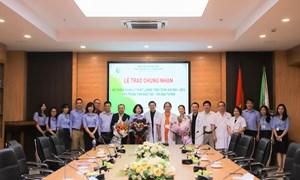 Lễ trao chứng nhận hệ thống quản lý chất lượng theo TCVN ISO 9001-2015 cho Trung tâm Đào tạo và chỉ đạo tuyến
