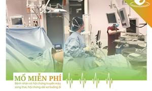 Mổ miễn phí cho bệnh nhân có hội chứng truyền máu song thai, hội chứng dải xơ màng ối