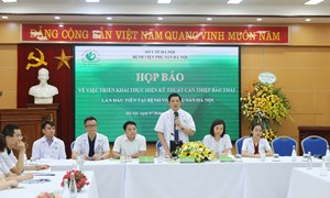 Bệnh viện Phụ sản Hà Nội đi đầu cả nước thực hiện thành công kỹ thuật can thiệp bào thai