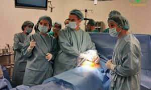 Triển khai kỹ thuật can thiệp bào thai lần đầu tại Bệnh viện Phụ Sản Hà Nội.