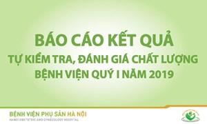 BÁO CÁO KẾT QUẢ KIỂM TRA CHẤT LƯỢNG CÁC KHOA/PHÒNG  QUÝ I NĂM 2019