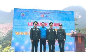 Khánh thành Nhà bia ghi tên các liệt sỹ Đồn Biên phòng cửa khẩu Sóc Giang
