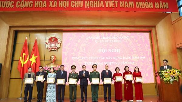 Quận ủy Ba Đình tổ chức Hội nghị tổng kết công tác xây dựng Đảng năm 2018, triển khai nhiệm vụ năm 2019.