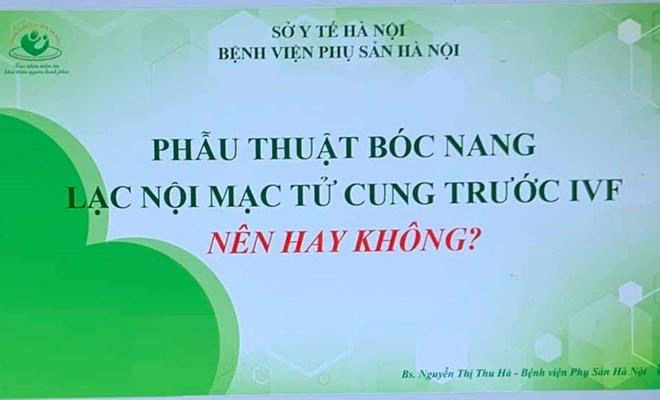 Bệnh viện Phụ Sản Hà Nội tham dự IVF SUMMIT 2021