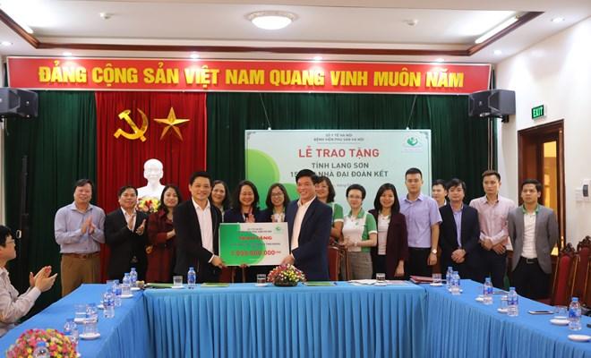 Bệnh viện Phụ Sản Hà Nội tài trợ tiền xây dựng 15 căn nhà tình nghĩa tỉnh Lạng Sơn