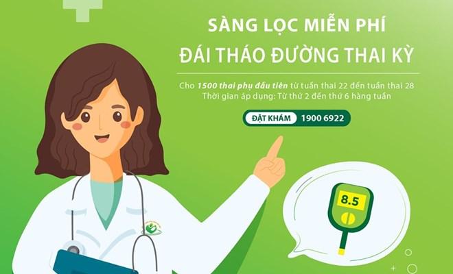 Miễn phí sàng lọc đái tháo đường thai kỳ cho 1500 thai phụ