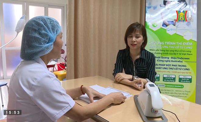 Bệnh viện Phụ sản Hà Nội sàng lọc ung thư cổ tử cung miễn phí cho 1000 phụ nữ