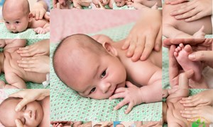 Hướng dẫn massage cho trẻ sơ sinh