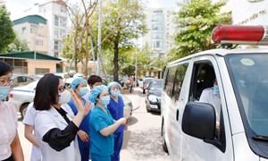 Bệnh viện Phụ Sản Hà Nội lên đường chi viện Bắc Giang phòng chống COVID- 19